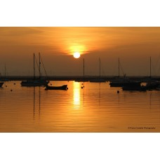 Sunset at Mersea Island (Large Print)